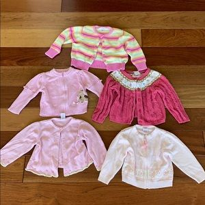 5 Gymboree cardigan sweater bundle